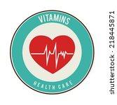 vitamins design over white...   Shutterstock .eps vector #218445871
