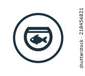 fish  aquarium circle... | Shutterstock .eps vector #218456821