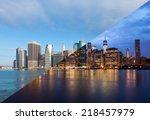 montage of manhattan skyline... | Shutterstock . vector #218457979