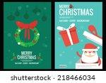 christmas card   background... | Shutterstock .eps vector #218466034