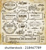 vintage vector design elements... | Shutterstock .eps vector #218467789