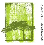 eco tree grunge natural vector... | Shutterstock .eps vector #218468449