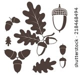 oak. acorn. vector illustration  | Shutterstock .eps vector #218468494