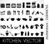 Set Of Black Kitchen Appliance...