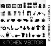 Set Of Black Kitchen Appliance...