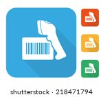 barcode label with reader... | Shutterstock .eps vector #218471794