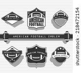 american football emblems | Shutterstock .eps vector #218472154