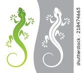 graphic illustration of lizard...   Shutterstock .eps vector #218474665