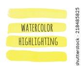 Yellow Watercolor Highlighting
