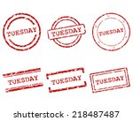 tuesday stamps | Shutterstock .eps vector #218487487