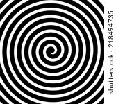 volute  spiral  concentric... | Shutterstock .eps vector #218494735