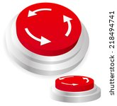 machine operation button.... | Shutterstock .eps vector #218494741