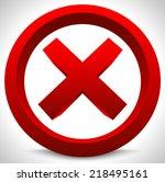red x button. x shape  letter ...   Shutterstock .eps vector #218495161