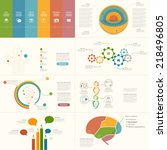 set of infographics elements... | Shutterstock .eps vector #218496805