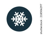 snowflake circle background... | Shutterstock .eps vector #218506297