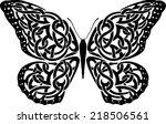celtic butterfly | Shutterstock .eps vector #218506561