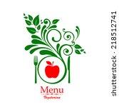 vegetarian menu. design... | Shutterstock .eps vector #218512741