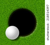 Golf Ball On Lip Of Cup. Vector ...
