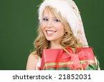 picture of happy santa helper... | Shutterstock . vector #21852031