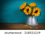 Fresh Sunflower Flowers In...