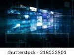 data management technology and... | Shutterstock . vector #218523901