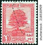 lebanon   circa 1937  a stamp... | Shutterstock . vector #218530909