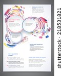 abstract colored flyer template ... | Shutterstock .eps vector #218531821