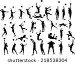 beach volleyball players vector ...   Shutterstock .eps vector #218538304