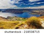 Stock photo lake wanaka view from mount roys new zealand 218538715
