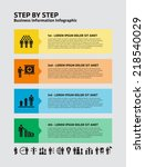 4 step infographic with... | Shutterstock .eps vector #218540029