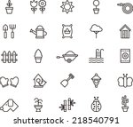 garden icons | Shutterstock .eps vector #218540791