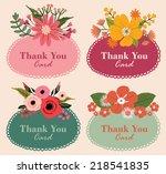 thank you card   Shutterstock .eps vector #218541835