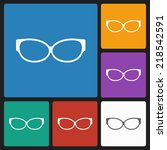 glasses icon | Shutterstock .eps vector #218542591