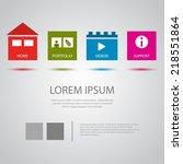 modern  website template  eps10 ...