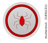 spidercircular icon on white... | Shutterstock . vector #218561311