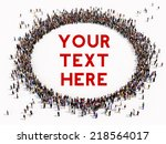 large group of people seen from ... | Shutterstock . vector #218564017