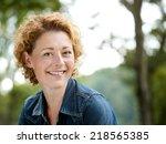 portrait of a cheerful older... | Shutterstock . vector #218565385