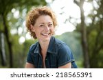 close up portrait of a happy... | Shutterstock . vector #218565391