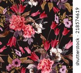 seamless floral pattern with... | Shutterstock . vector #218574619