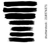 black ink vector brush strokes | Shutterstock .eps vector #218576371