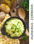 mashed potato | Shutterstock . vector #218586334