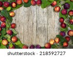 beautiful frame of small red... | Shutterstock . vector #218592727