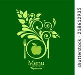 vegetarian menu. vector... | Shutterstock .eps vector #218612935