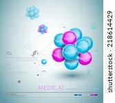 medical infographic elements  | Shutterstock .eps vector #218614429