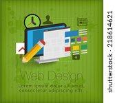 3d webdesign concept