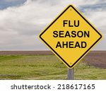 Caution Sign   Flu Season Ahead