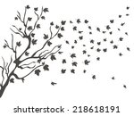 maples falling background | Shutterstock .eps vector #218618191