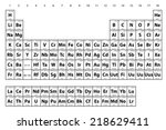 an illustration of the periodic ...   Shutterstock .eps vector #218629411