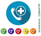 beautiful medical phone cross... | Shutterstock .eps vector #218664745