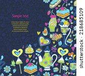 appetizing tea party texture... | Shutterstock .eps vector #218685109